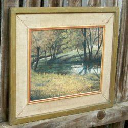 tableau georget rivière boisée biais