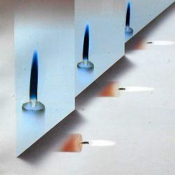 tableau bougies de près