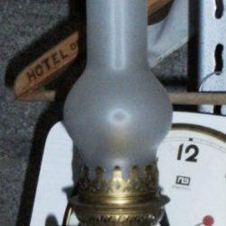 lampe à pétrole cuivre électrique