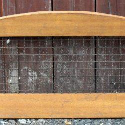 porte grillagée bois recto