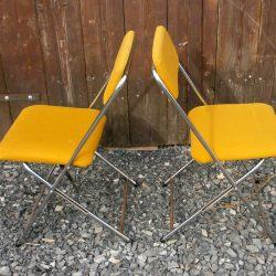 chaises pliantes 70 tissu 2 coté 1602