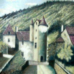 tableau georget maison à donjons de près