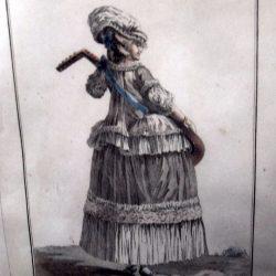 tableau femme en caraco de près