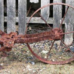 vieil outil roulant