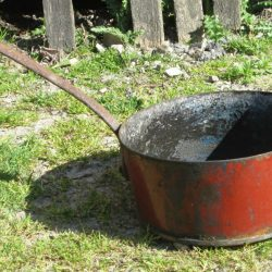 casserole fond cuivre coté