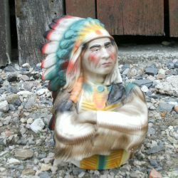 statue grand sachem face