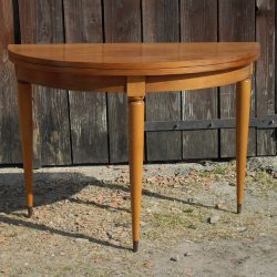 table demi lune pied cylindrique face