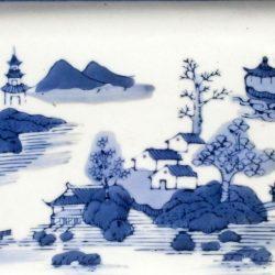 plat rectangulaire chinois détail