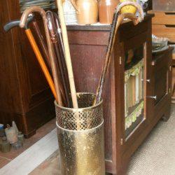 porte parapluie en cuivre jaune atelier