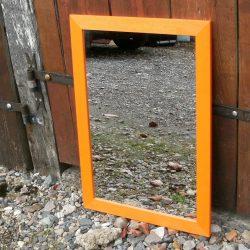 miroir orange rectangle large