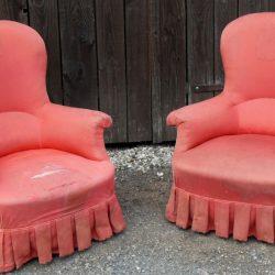 fauteuils bergères biais