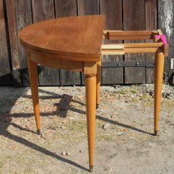 table demi lune pied cylindrique en cours