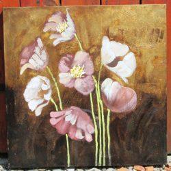 tableau fleurs modernes