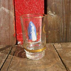 verre souvenir de communion fond bleu haut face