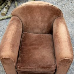 fauteuil club velours assise