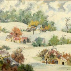 tableau vent d'hiver franclin de près